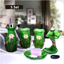 5 Piece Bathroom Set by Popular Bathroom Green Set Buy Cheap Bathroom Green Set Lots From