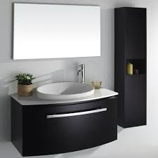 Black Bathroom Vanity Units by Bold Black Bathroom Vanity For Dark Lovers With Enchanting Look