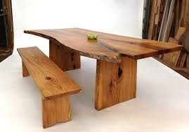 Oak Slab Table by Black Oak Dining Table David Stine