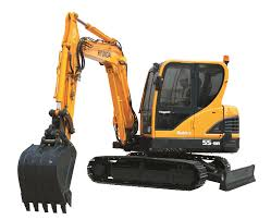 compact excavator midi crawler for construction r55 9a