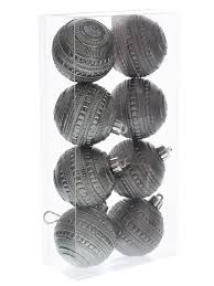 grey baubles decorations ornaments dazzle stylish