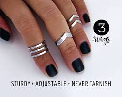 midi ring set midi rings etsy