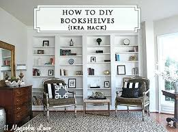 ikea fireplace hack how to build diy built in bookcases from ikea billy bookshelves