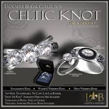 promise ring engagement ring and wedding ring set second marketplace wedding ring set his hers celtic