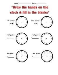 telling time worksheets o u0027clock half past quarter to quarter