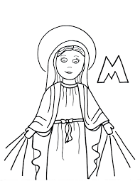 mary saints to color