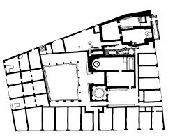 ancient roman bath house floor plan