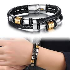 stainless steel buckle bracelet images Msc stainless steel black braided multilayer magnetic buckle jpg