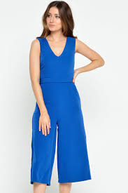 jumpsuit in iclothing donna culotte jumpsuit in royal blue iclothing