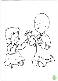 caillou coloring dinokids org