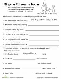 4th grade noun worksheets worksheets releaseboard free printable