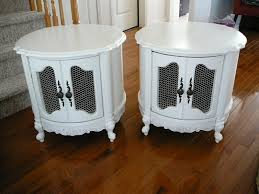 classis white round end table with storage popular home interior