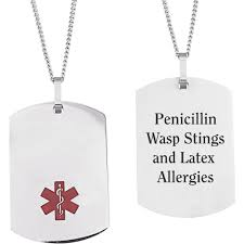 Personalized Dog Tags For Men Personalized Stainless Steel Medical Id Dog Tag Pendant 19 5