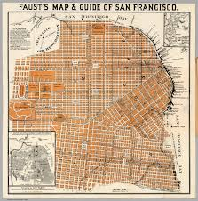 San Francisco City Map by Faust U0027s Map U0026 Guide Of San Francisco David Rumsey Historical Map