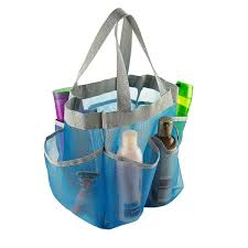 amazon com 7 pocket shower caddy tote blue keep your shower