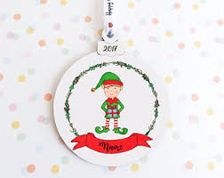 elf ornament etsy