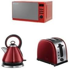 Toaster And Kettle Set Red Swan Kitchen Appliance Retro Set Red Microwave 2l Pyramid