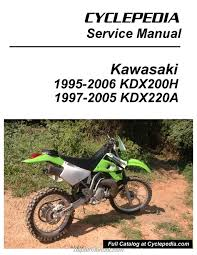 kawasaki kdx200h kdx220a cyclepedia printed motorcycle service manual