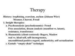 What Is Empty Chair Technique Abnormal Psychology U0026 Treatment Ppt Download