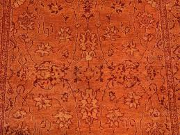 3 u0027 x 16 u0027 xl runner tone on tone orange kashan hand knotted