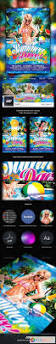 summer pool party flyer template 5594539 free download photoshop