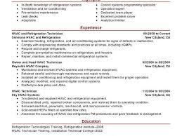 Refrigeration Technician Resume Splendid Design Hvac Resume 9 Best Hvac And Refrigeration Resume