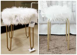 diy fuzzy faux fur stool for under 20 a dash of mum