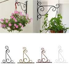 Hanging Flower Pot Hooks European Style Wall Hanging Flowerpot Bracket Iron Flower Stand