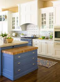 white cabinets on top blue on bottom 31 awesome blue kitchen cabinet ideas home remodeling