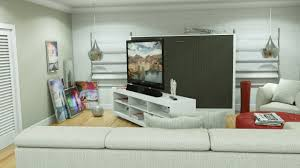 Coventry Wall Bed by Avant Garde Double Size Sideways Wallbed With Tv Stand