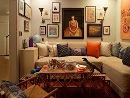 Orange Table L Apartments Fantastic Small Space Bohemian Apartment Decor Living