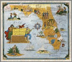 True Map Of The World Ye True Chart Of Pirate Treasure Lost Or Hidden In The Land