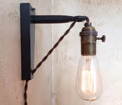 Edison Bulb Sconce Hanging Pendant Wall Sconce Retro Edison Lamp Plug In Sconce