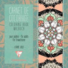 Carnet de coloriage pour adultes 36P 20x20cm Mandala  Carnet de