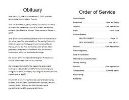 Funeral Program Sample The Funeral Memorial Program Blog How To Write A Funeral Program