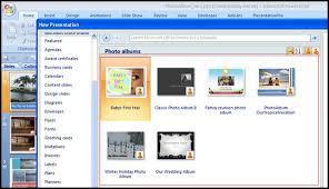 powerpoint 2007 photo album template create a dvd photo album for