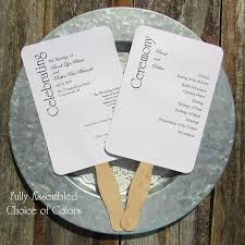 ceremony fans wedding program fans personalized wedding fans assembled