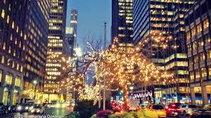 blogging away christmas lights in new york city