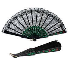 black lace fan bulk accessories party supplies fan black lace 12cs