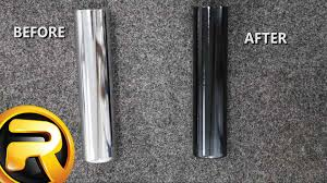 how to spray paint chrome black youtube