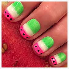 easy watermelon nails beginnersnailart u0027s blog