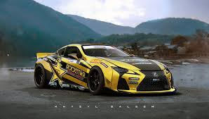 lexus isf wallpaper khyzyl saleem digital art artwork car lexus is f