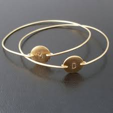 personalized bangle bracelets personalized bangle bracelet gold initial bangle 14k filled