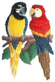 parrot home decor metal art parrots hand painted metal tropical parrot wall decor