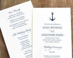 nautical wedding programs wars wedding programs disney wedding programs fairytale