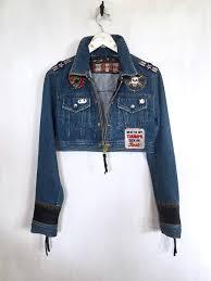 blue motorcycle jacket customized vintage denim biker jacket triumph motorcycle