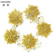 shop haochu gold snowflake garland deer shape hanging bean