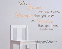 aliexpress com buy you are braver stronger smarter motivational aliexpress com buy you are braver stronger smarter motivational quote wall stickers decorative diy inspirational quotes office wall decal q178 from