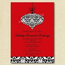 items similar to ornament exchange invite