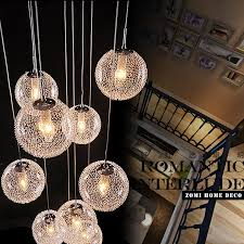 Diy Led Chandelier Aliexpress Buy Modern Large Led Chandeliers Stair Globe